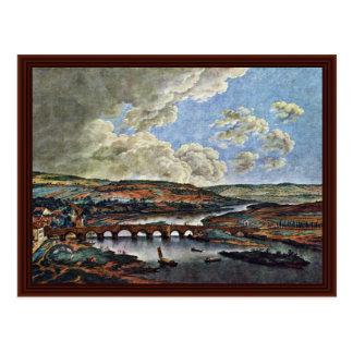Main Bridge In Aschaffenburg By Kobell Ferdinand Postcard