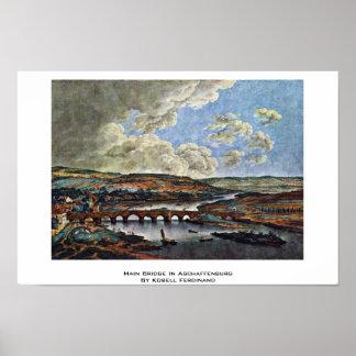 Main Bridge In Aschaffenburg By Kobell Ferdinand Print