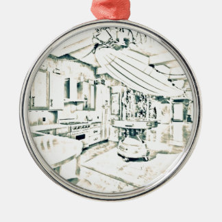 main characters room Silver-Colored round decoration
