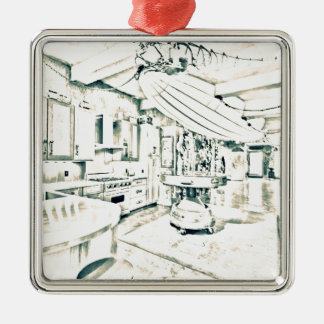 main characters room Silver-Colored square decoration