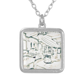 main characters room silver plated necklace