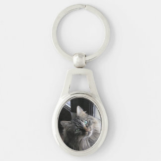Main Coon Cat Key Ring