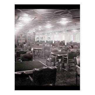 Main Dining Room Titanic Postcard