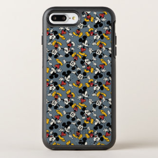 Main Mickey Shorts   Blue Icon Pattern OtterBox Symmetry iPhone 8 Plus/7 Plus Case