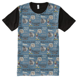 Main Mickey Shorts | Donald Duck Blue Pattern All-Over Print T-Shirt