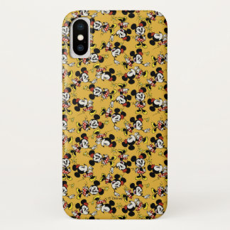 Main Mickey Shorts | Minnie Mouse Orange Pattern iPhone X Case