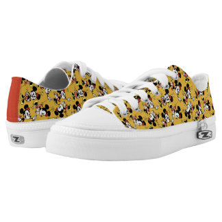 Main Mickey Shorts | Minnie Mouse Yellow Pattern Low Tops