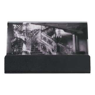 Main Ornate Stairwell D Deck Desk Business Card Holder