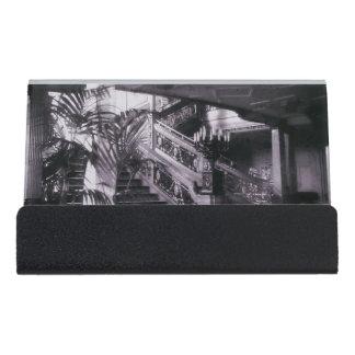 Main Ornate Stairwell D Deck Desk Business Card Holder