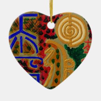 Main ReikiHealingArt Symbol Ceramic Heart Decoration
