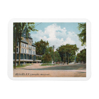 Main St, Lancaster, New Hampshire, Vintage Magnet