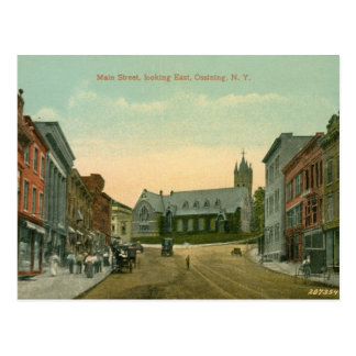 Main St., Ossining, NY Vintage Postcard