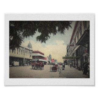 Main St., Visalia, California Vintage Poster