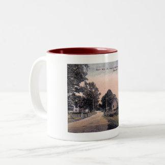 Main St., Woodstock, New York Vintage Two-Tone Coffee Mug