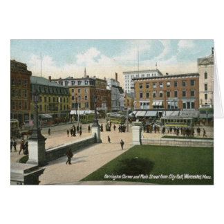 Main St., Worcester, MA 1910 Vintage Card