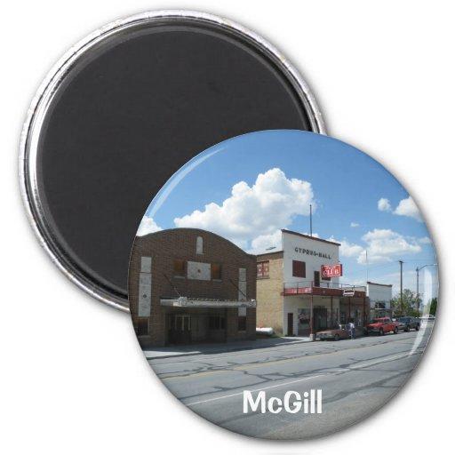 Main Street 6 Cm Round Magnet