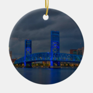 main street bridge Jacksonville FL Ceramic Ornament