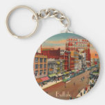 Main Street - Buffalo, NY Vintage Basic Round Button Key Ring