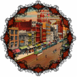 Main Street - Buffalo, NY Vintage Ornament Photo Sculpture Decoration