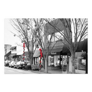 Main Street Christmas Photo Print