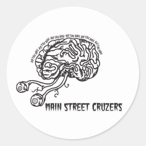 Main Street Cruzers-Punk Music Brain Sticker