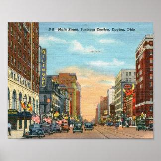 Main Street, Dayton, Ohio Vintage Poster