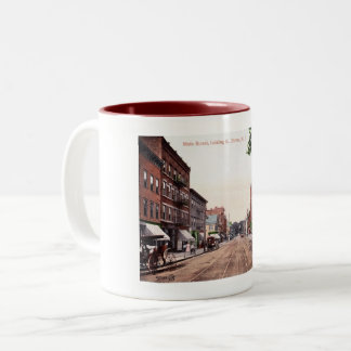 Main Street, Dover, New Jersey Vintage Two-Tone Coffee Mug