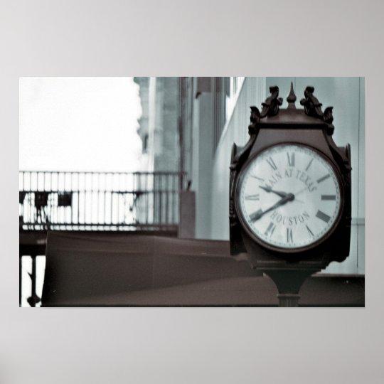 Main Street, Houston Clock Poster