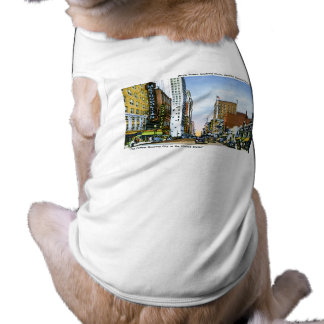Main Street, Houston, Texas Sleeveless Dog Shirt
