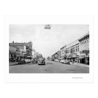 Main Street in Walla Walla, WA Photograph Postcard