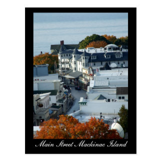 Main Street Mackinac Island - Postcard