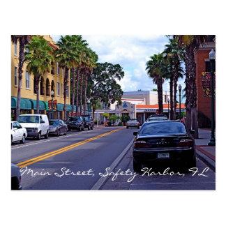 Main Street, Safety Harbor Postcard
