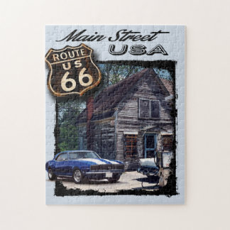 Main Street USA Camaro Scene Jigsaw Puzzle