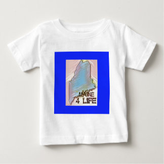 """""""Maine 4 Life"""" State Map Pride Design Baby T-Shirt"""