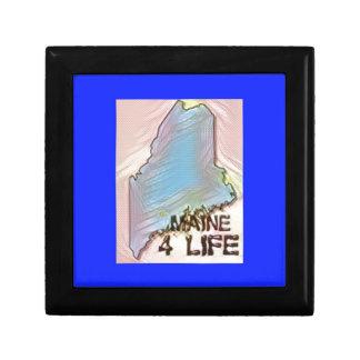 """Maine 4 Life"" State Map Pride Design Gift Box"