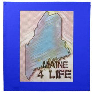 """Maine 4 Life"" State Map Pride Design Napkin"