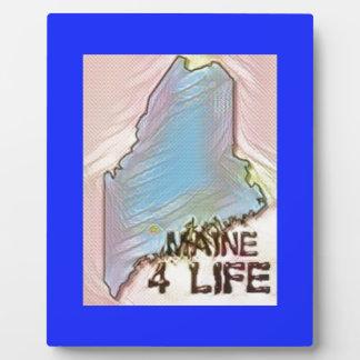 """""""Maine 4 Life"""" State Map Pride Design Plaque"""