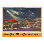Maine, Amusements, Old Orchard Beach, Night view Post Card