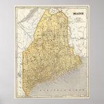 Maine Atlas Map Poster