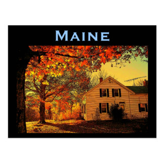Maine Autumn Postcard