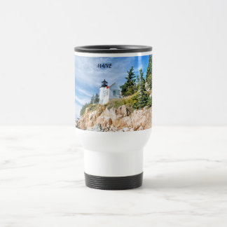 MAINE, BASS HARBOR TRAVEL MUG