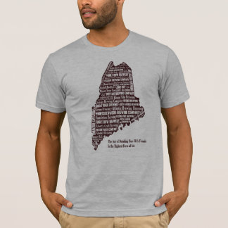 Maine beer map T-Shirt