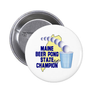 Maine Beer Pong Champion Button