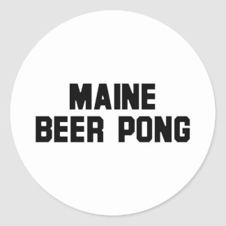 Maine Beer Pong Round Stickers