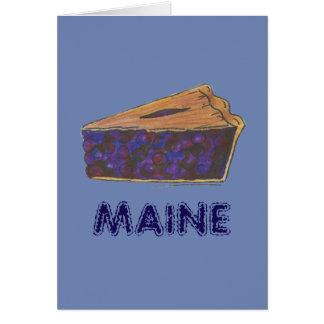 Maine Blueberry Pie Slice Piece Baking Foodie Blue Card