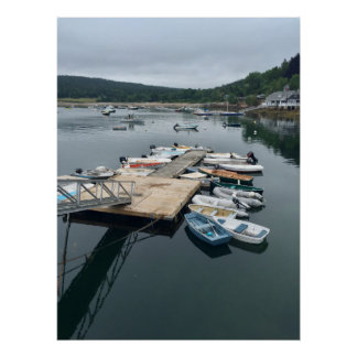 Maine Boats Poster