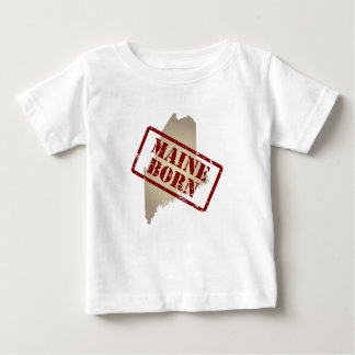 Maine Born - Stamp on Map Baby T-Shirt
