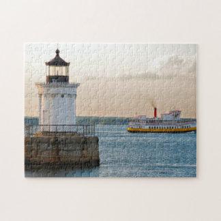 Maine Breakwater Portland. Jigsaw Puzzle