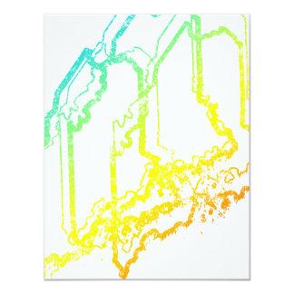 maine chill blur 11 cm x 14 cm invitation card
