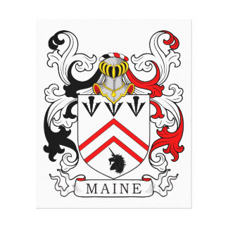 Maine Coat of Arms II Canvas Print